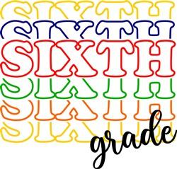 Sixth Grade print art