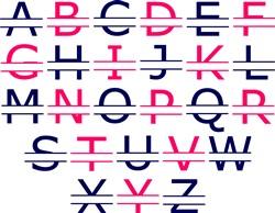 Split Alphabet print art