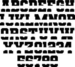Split Varsity Alphabet print art