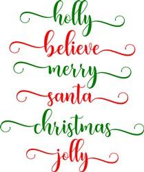 Holiday Glyphys print art