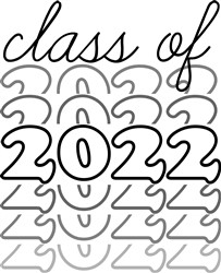 Class Of 2022 Stacked print art