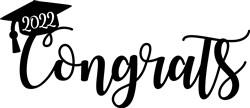 2022 Graduation Congrats Topper print art