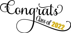 Fancy Congrats Class Of 2022 print art