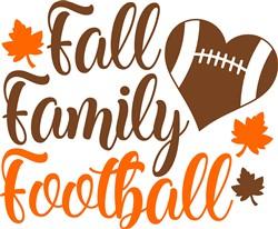 Fall, Family, Football print art