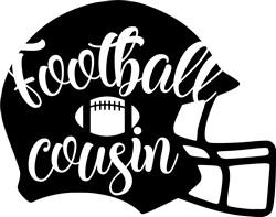 Football Cousin Helmet print art