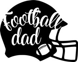 Football Dad Helmet print art