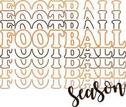 football_season_stacked print art