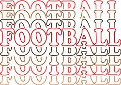 Football Stacked print art