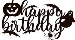 Spooky Birthday Cake Topper print art
