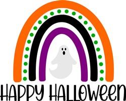 Happy Halloween Ghost Rainbow print art