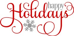 Swirly Happy Holidays print art