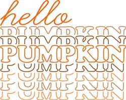 Hello Pumpkin Stacked print art