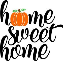 Fall Home Sweet Home print art