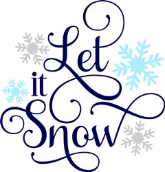 Let It Snow Snowflakes print art