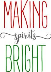 Farmhouse Making Spirits Bright print art