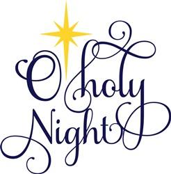 Swirly O Holy Night print art
