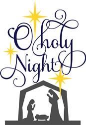 O Holy Night Nativity print art