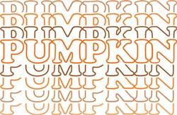 Pumpkin Outline Stacked print art