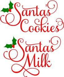 Santas Cookies Santas Milk print art
