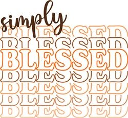 Simply Blessed print art