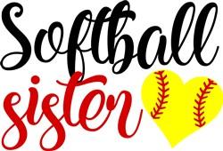 Softball Sister print art