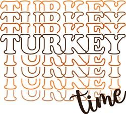 Turkey Time Stacked print art