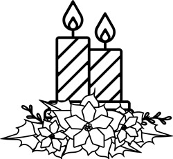 Candles With Poinsettia print art