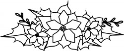 Christmas Poinsettia print art