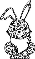 Mandala Bunny print art