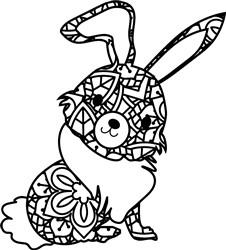 Mandala Hare print art
