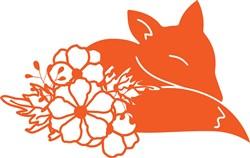 Fox In Flowers print art