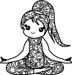 Meditation Mandala print art