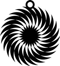 Spiral Earring print art