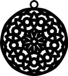 Mandala Earring print art