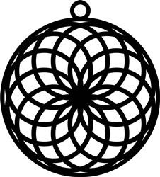 Spiral Circle Earring print art