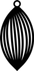 Oval Earring print art