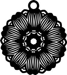 Flower Earring print art