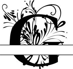 Elegant Split Letter G print art