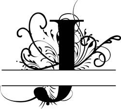 Elegant Split Letter J print art