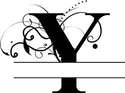 Elegant Split Letter Y print art