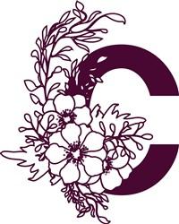 Floral Alphabet Letter C print art