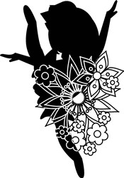 Silhouette Ballerina print art