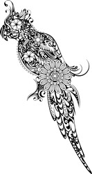 Gorgeous Zentangle Parrot print art