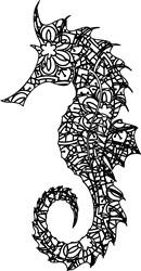 Gorgeous Zentangle Sea Horse print art