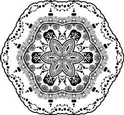 Hexagon Mandala print art