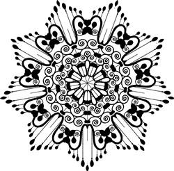 Starburst Mandala print art