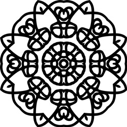 Pretty Mandala print art