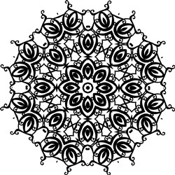 Floral Mandala print art