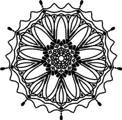 Sunflower Mandala print art