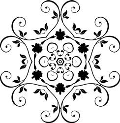 Delicate Mandala print art